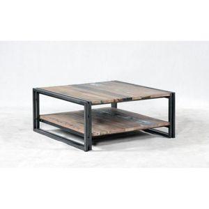 TABLE BASSE Table basse carrée 2 plateaux evasion  100cmx100cm