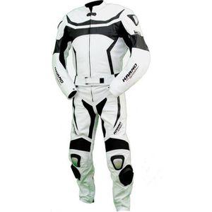 COMBINAISON DE PILOTE Kc204 Combinaison moto KARNO-MOTORSPORT cuir blanc