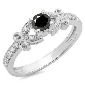 BAGUE - ANNEAU Bague Femme Diamants 0.50 ct  14 ct 585-1000 Or Bl