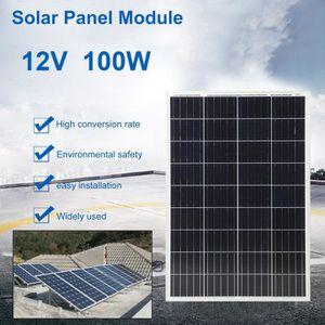 KIT PHOTOVOLTAIQUE Panneau solaire 100w 12v (9x4) Multifonction