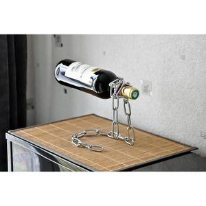 PORTE-BOUTEILLE Porte-bouteille original chaîne métal - Gris