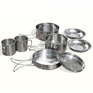 RÉCHAUD 8Pcs - ensemble Kit de casseroles pour pique-nique