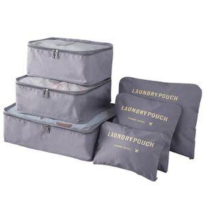 6PCS Organisateur Etanche Poche SAC de Rangement Vêtement Valise Bagage Voyage
