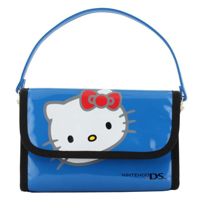 HOUSSE DE TRANSPORT SACOCHE HELLO KITTY BLEUE NINTENDO 3DS - HK520BLEU