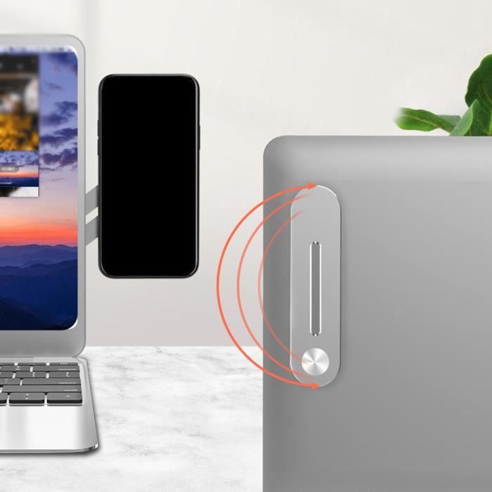 FIXATION TELEPHONE - SUPPORT TELEPHONE Support de téléphone latéral pour écran d'ordinateur portable 3 pièces