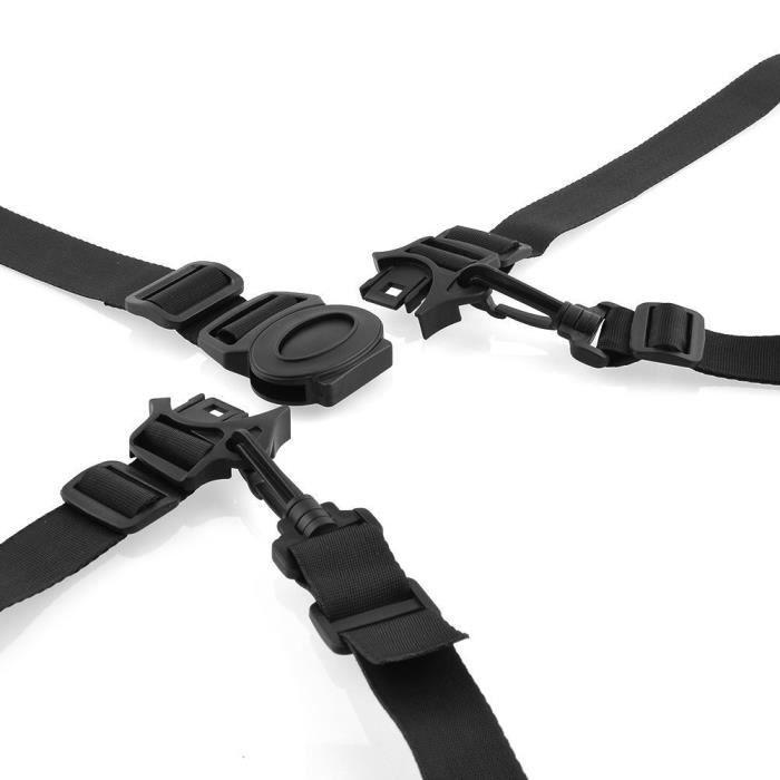 Panlom® 5 Points Réglable Sangle de Ceinture d'Entraînement de Fixaction Sécurité Siège Bébé Poussette Chaise Haute