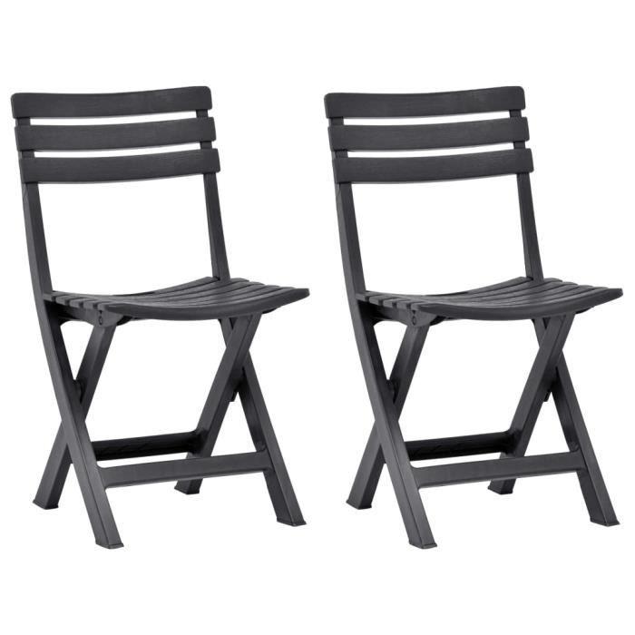 🎸4072Luxe- Lot de 2 Chaises de jardin pliables- Chaises de salle à manger Contemporain-Fauteuil de jardin relaxation- Chaise De Cam