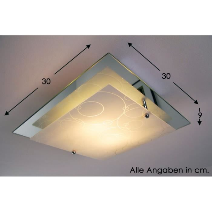 Plafonnier Lustre Design Carré Lampe à suspension