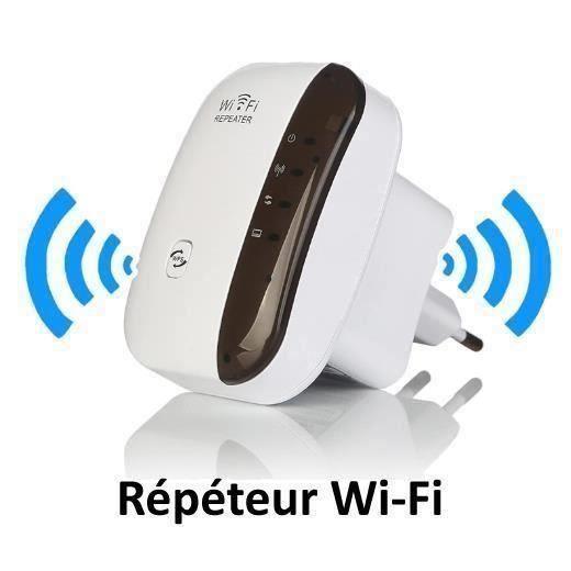 Répéteur WiFi PLUG&SURF Version 2019 - universel tout abonnement - iBooster la qualité et la distance wi-fi