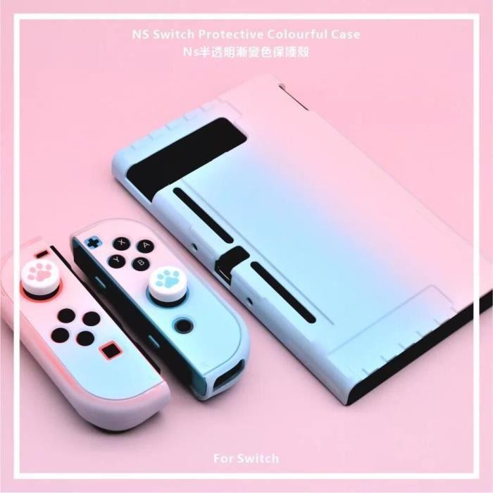 Housse de protection pour console Nintendo Switch Joy-Con,Couleur dégradée Autocollants de protection d'écran pour N-Switch Console