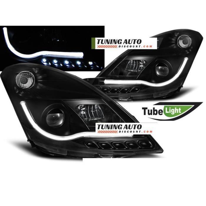 Phares avant Suzuki swift iv 10-10.13 tube light noir