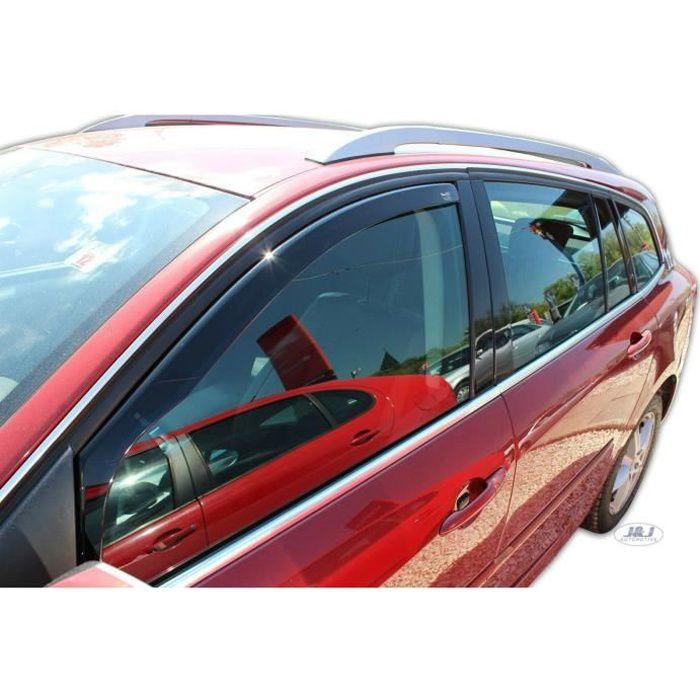 - Deflecteurs d'Air déflecteurs de vent Compatible avec Renault Laguna III 5 Portes 2007-2014 2 pièces