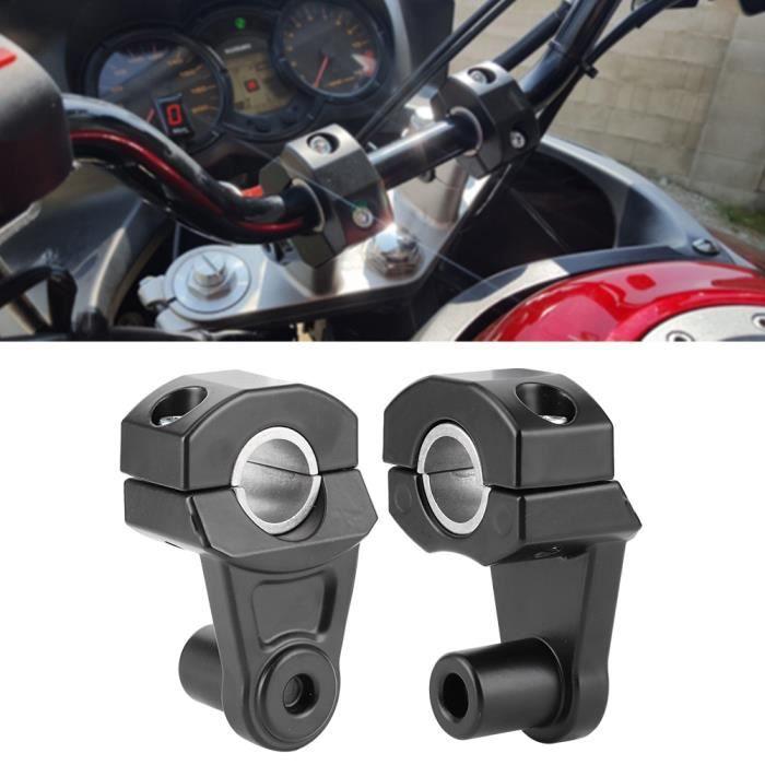 2 PCS 22mm / 28mm Support pince de rehausseur de guidon de moto universel pivotant en aluminium CNC-NIM