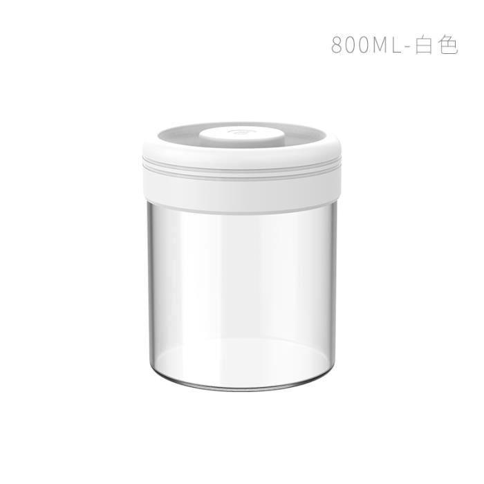 Accessoires parfumerie,TIMEMORE récipient en verre sous vide verre scellé bocal collations thé café grains - Type 800ml White