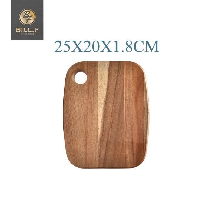 Planche à découper,Planche à découper en bois d'acacia, planche à découper de fruits entiers, planche à découper - Type 25x20x1.8cm
