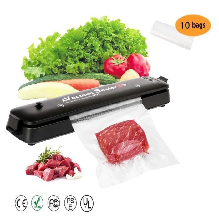 Molibai Machine Sous Vide Alimentaire, Appareil de Mise Sous Vide Automatique avec 20 Sacs Sans BPA pour Aliments, Viandes, Légumes