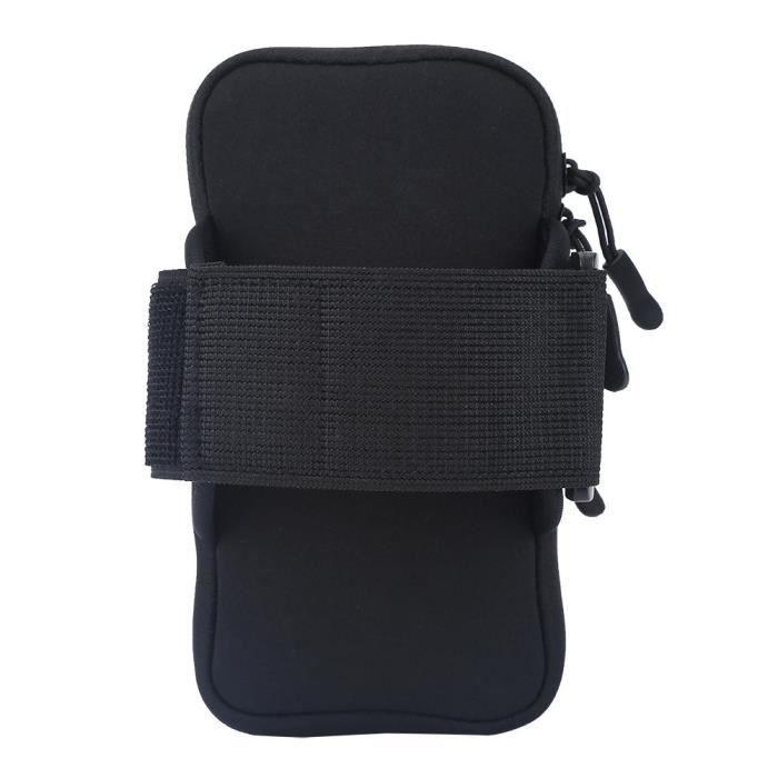 sac de bras Sport de plein air course jogging exercice gym bras poignet pochette brassard téléphone cas sac noir