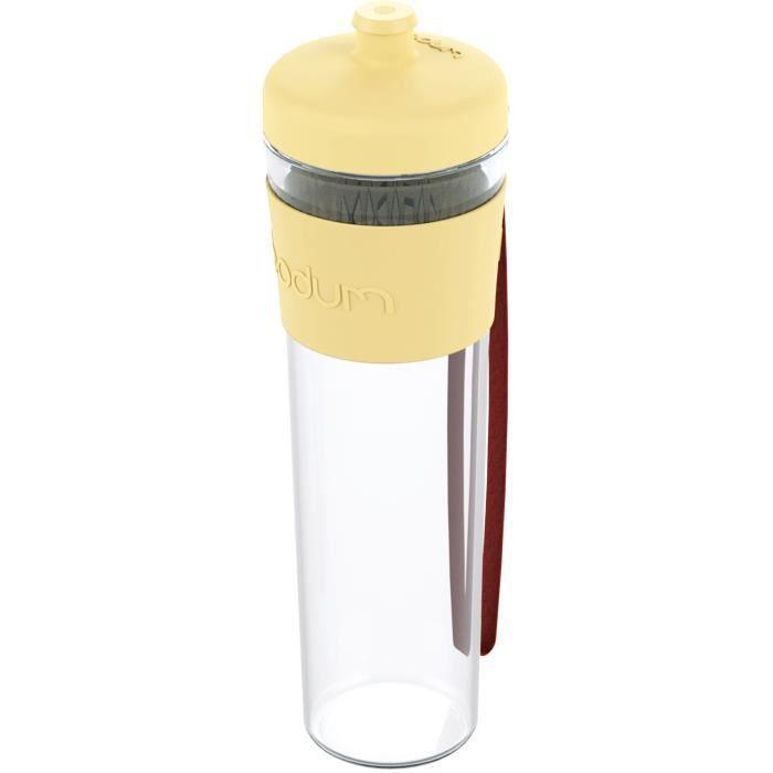 BODUM BISTRO Gourde à emporter - Plastique - 0,5 L - Jaune pastel