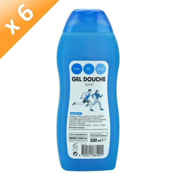 TOUS LES JOURS Gels douche Vanille - 500 ml - Lot de 6
