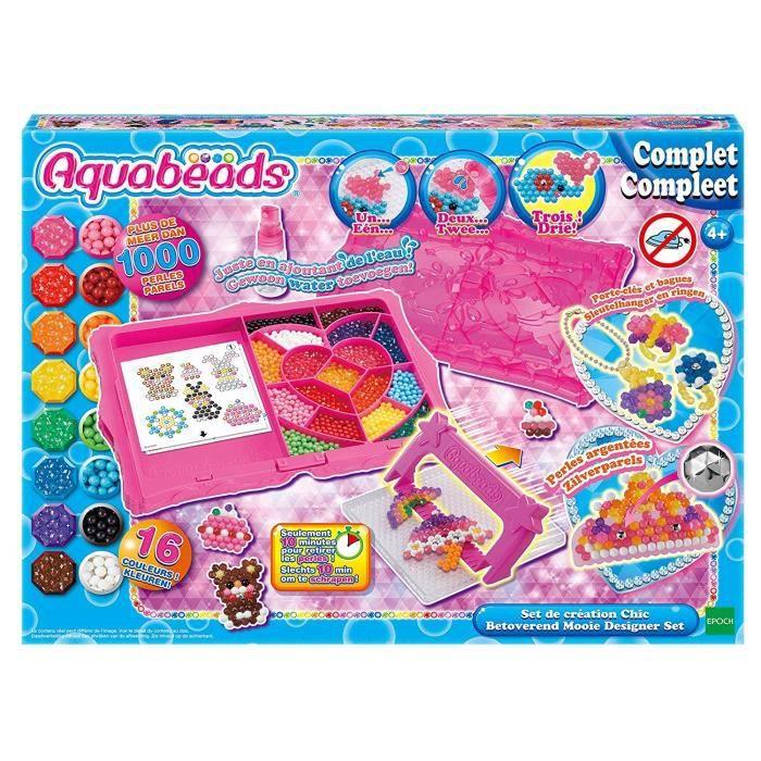 AQUABEADS Coffret De Creation Chic - plus de 1000 perles de 16 couleurs