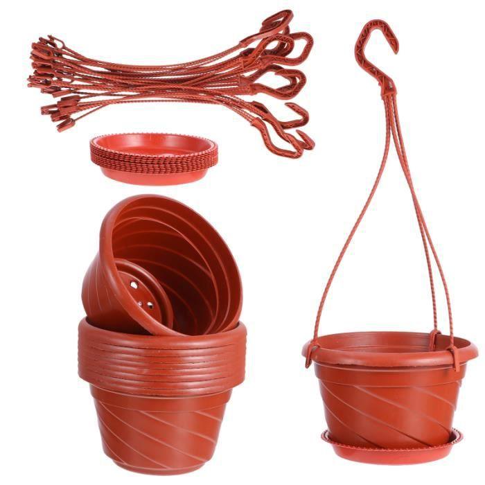 10 ensembles Suspendus Pot de Fleur Utile durable Jardin Plante en pot griffoir - griffe outils d'exterieur - de jardin