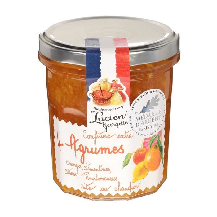 LUCIEN GEORGELIN Confiture Extra 4 Agrumes - 320 g