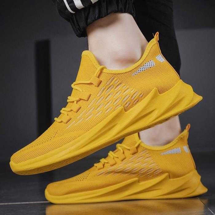 Chaussures de sport décontractées pour hommes, chaussures de course, baskets en maille, chaussures légères et respirantes