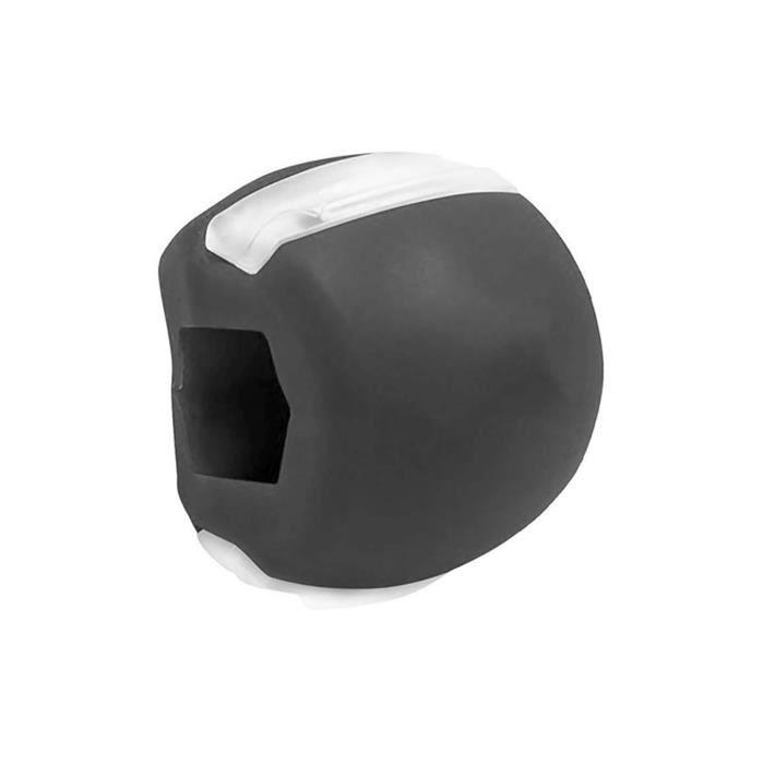 JAW Exerciseur Boule d'exercice Ball Fitness Ballon Double menton Exerciseur Ball Facial Effectif Ballon noir