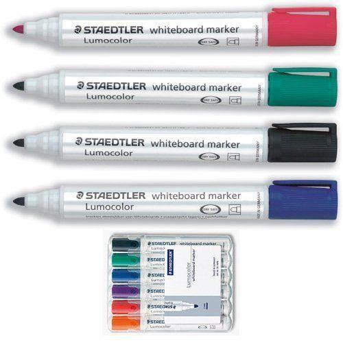 Staedtler - Lumocolor 351 - Boîte de 6 marqueurs - Couleurs assorties - Pointe ogive 2,0 mm