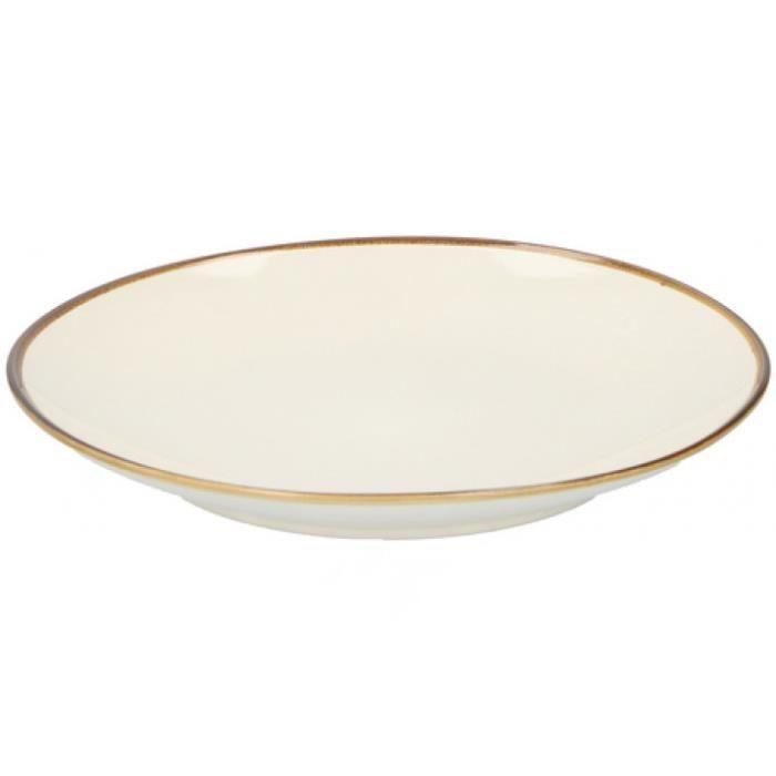 TOM assiette à dîner 26 x 3 cm céramique blanc ivoire