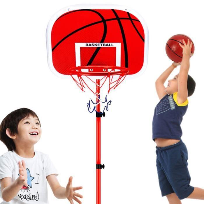 1 ensemble de basket-ball de support de cadre de réglable en métal durable entraînement extérieur pour