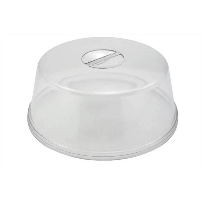 Plaque gâteau 30cm couvercle transparent en plastique alimentaire