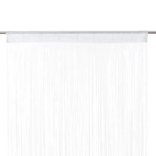 RIDEAU Rideau ruban Fil - 90 x 200 cm - Blanc