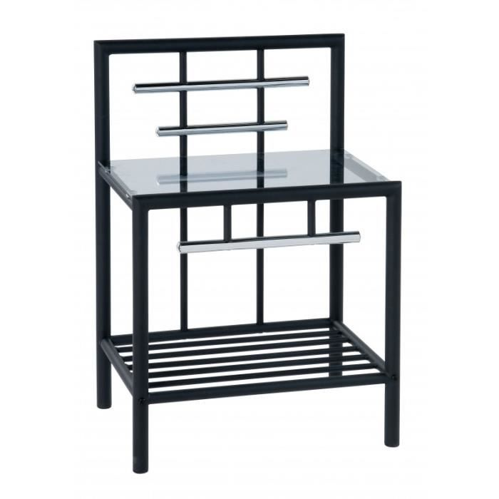 tables de nuit noir achat vente chevet tables de nuit noir cdiscount. Black Bedroom Furniture Sets. Home Design Ideas