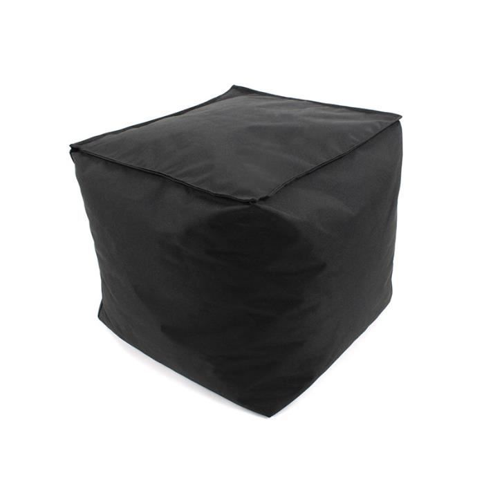 pouf cube int rieur ext rieur 40x40x40cm noir achat. Black Bedroom Furniture Sets. Home Design Ideas