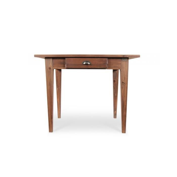 table a manger bois avec tiroir achat vente table a. Black Bedroom Furniture Sets. Home Design Ideas
