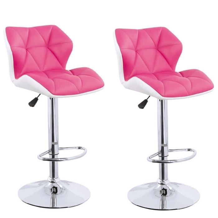 tabouret de bar blanc rose lot de 2 spider achat vente. Black Bedroom Furniture Sets. Home Design Ideas