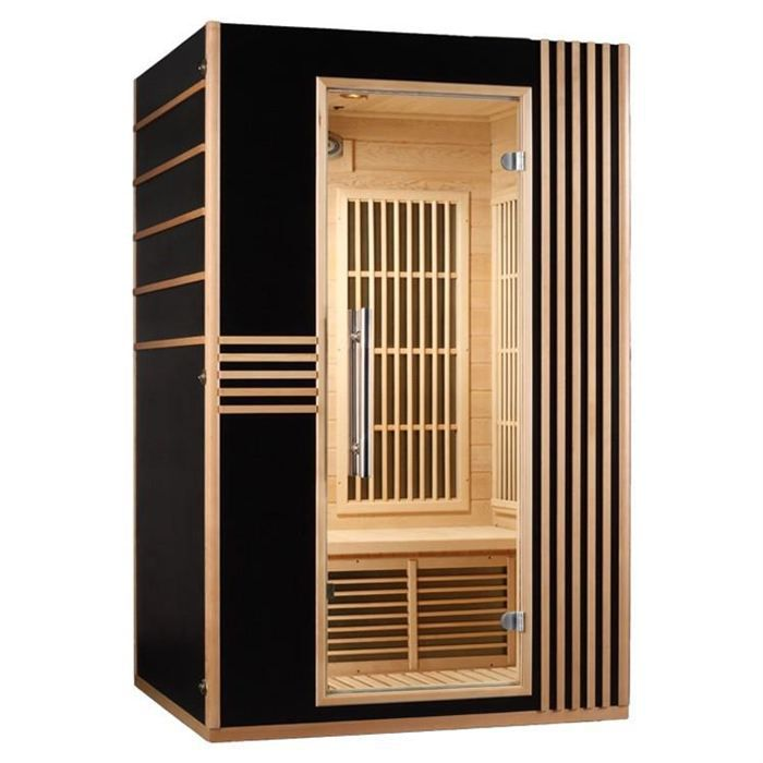 sauna infrarouge 2 places saga lord achat vente kit. Black Bedroom Furniture Sets. Home Design Ideas