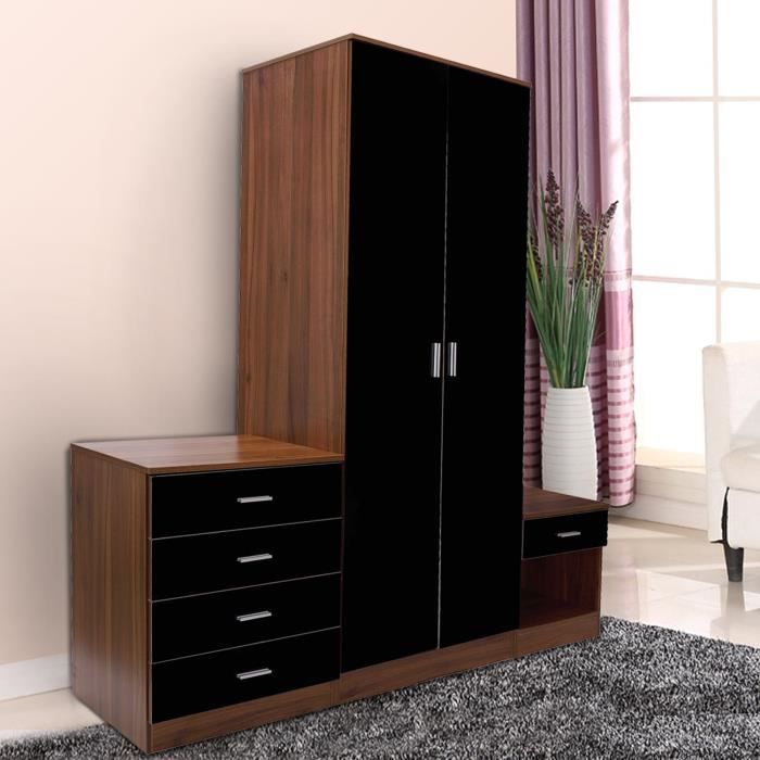 ensemble meuble de chambre moderne 1 armoire de penderie. Black Bedroom Furniture Sets. Home Design Ideas