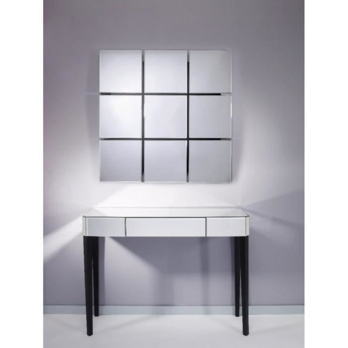 sowhat ensemble console et miroir mural en verre achat vente console sowhat ensemble console. Black Bedroom Furniture Sets. Home Design Ideas