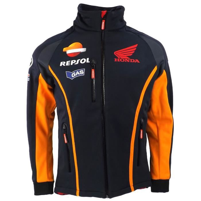 repsol honda moto gp team gaz soft shell jacket blue. Black Bedroom Furniture Sets. Home Design Ideas