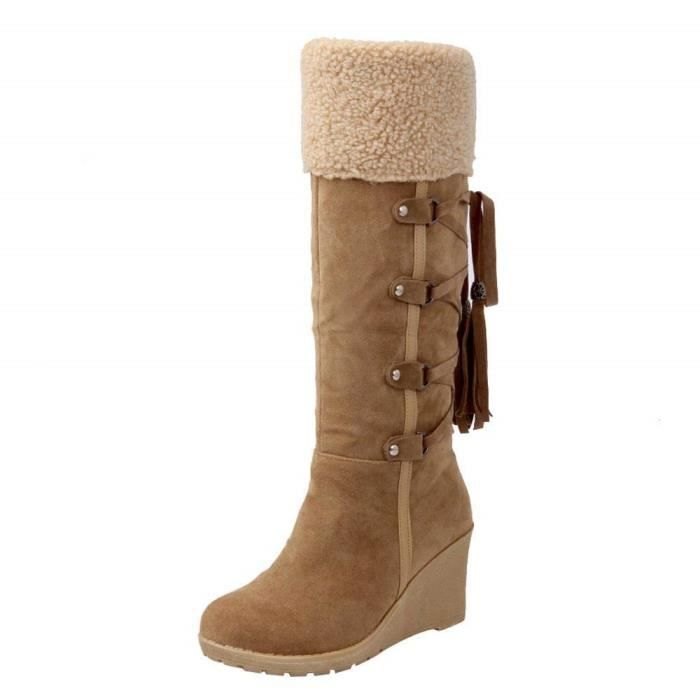 Bottes Boot Long Femme Botte De Paille Go Tendance Bottine