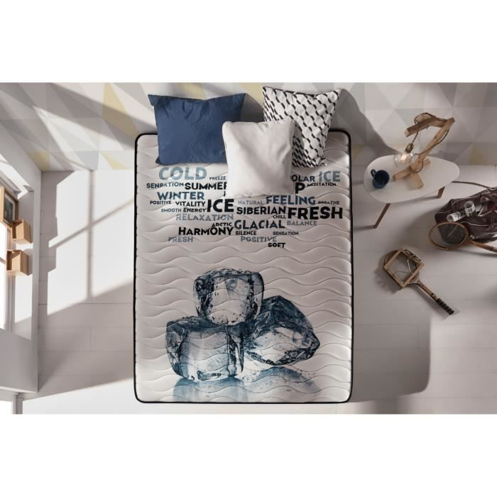 MATELAS Matelas MEMOGEL 140x200 cm Technologie Blue-latex-
