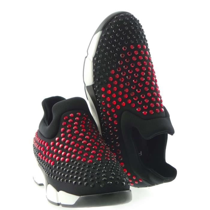 Pinko Sneakers Femme Black/red 42awGyZv73