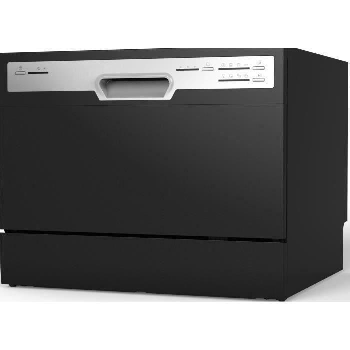 Lave vaisselle pose libre OCEANIC OCEALVC649B - 6 couverts - 49 dB - A+ - Larg 55 cm - Noir