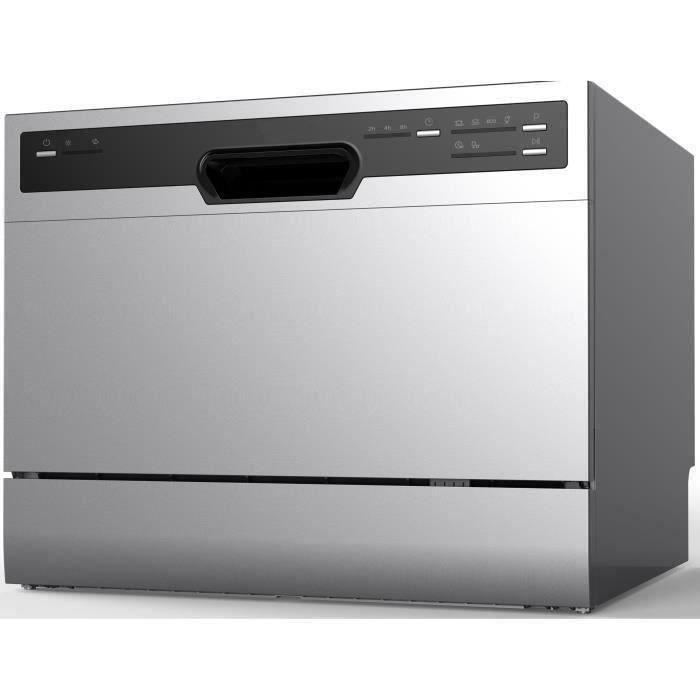 Lave-vaisselle pose libre OCEANIC OCEALVC649S - 6 couverts - Largeur 55 cm - 49 dB - Silver