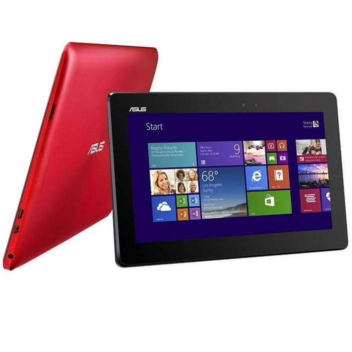asus pc convertible tablette t100ta rouge achat vente. Black Bedroom Furniture Sets. Home Design Ideas