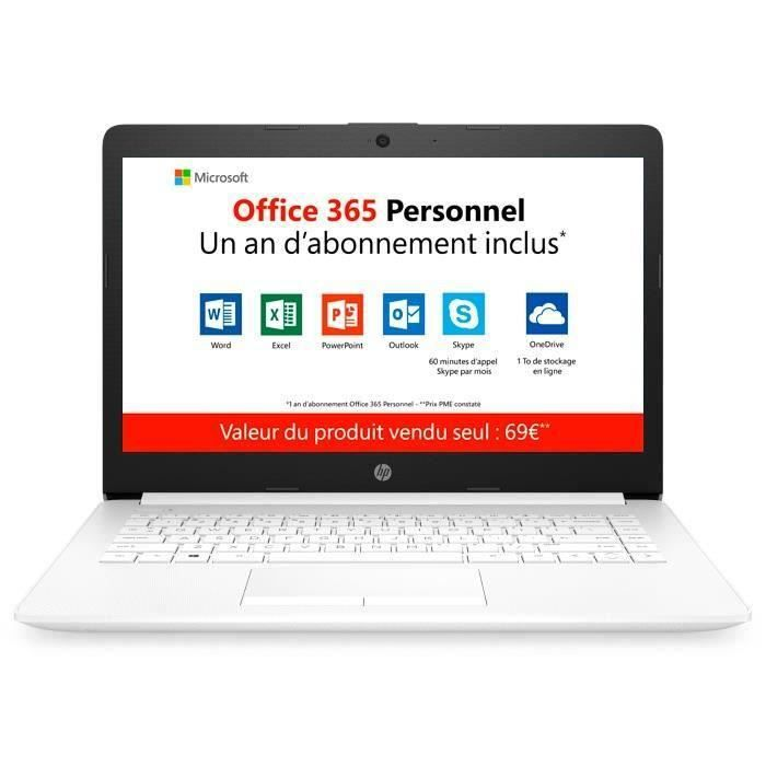 "ORDINATEUR PORTABLE HP PC Portable 14-cm0995nf-14"" HD-AMD A4-9125-RAM"