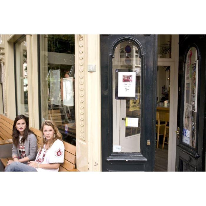 Porte affiche pour vitre - A4 - noir
