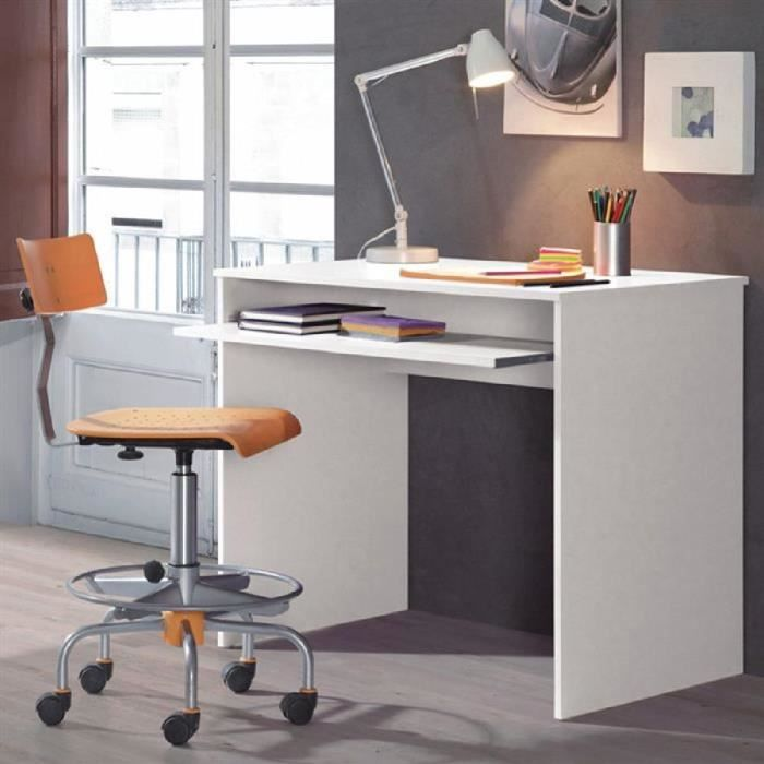 Bureau multim dia 1 niche 90cm blanc i joy ebay for Bureau multimedia blanc